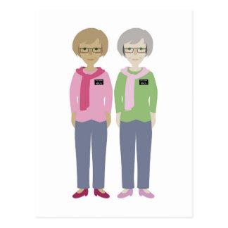 LDS Missionaries Sister Companions Postcard