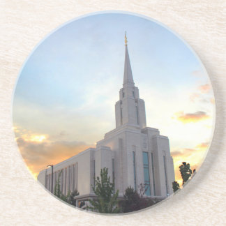 LDS mormon Oquirrh Mountain Utah temple Drink Coaster