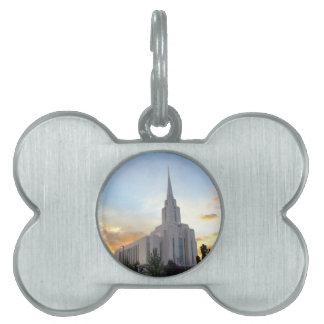 LDS mormon Oquirrh Mountain Utah temple Pet ID Tag