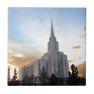 LDS mormon Oquirrh Mountain Utah temple Tile