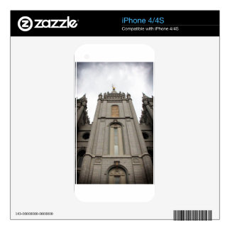 LDS Mormon Salt Lake City Temple photograph Decal For The iPhone 4