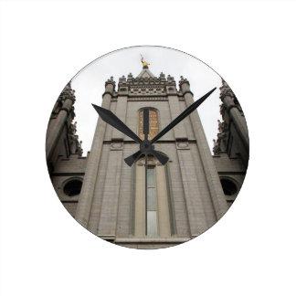 LDS Mormon Salt Lake City Temple photograph Round Clock