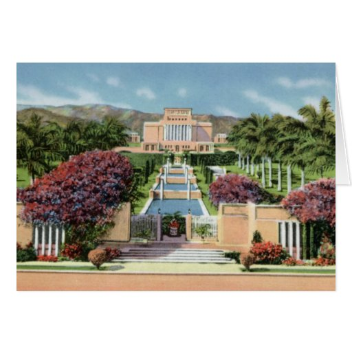 LDS Mormon Temple Laie Oahu Hawaii Greeting Card