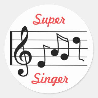 LDS Primary Music Sticker - Super Singer
