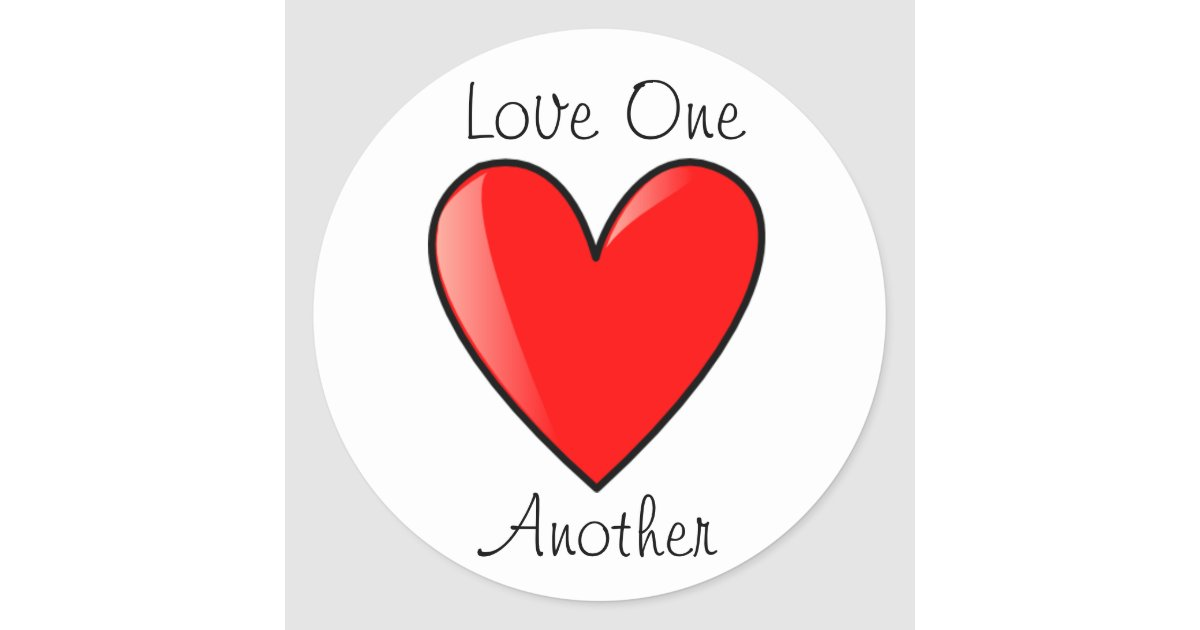 Lds wedding invitations - Lds Primary Stickers Love One Another Zazzle