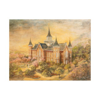 LDS Provo City Center Temple Canvas Print