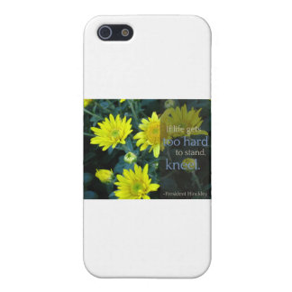 LDS Quote: When Life Gets Too Hard to Stand, Kneel Cover For iPhone SE/5/5s