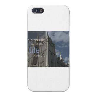 """LDS Quotes """"Spiritually Minded is Life Eternal"""" iPhone SE/5/5s Cover"""