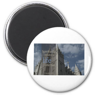 """LDS Quotes """"Spiritually Minded is Life Eternal"""" Magnet"""