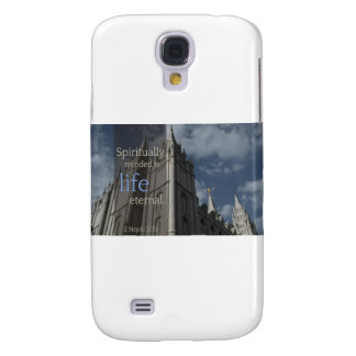 "LDS Quotes ""Spiritually Minded is Life Eternal"" Samsung Galaxy S4 Case"