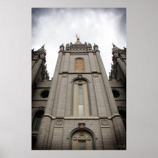 LDS Salt Lake City, poster del templo de UT - gran
