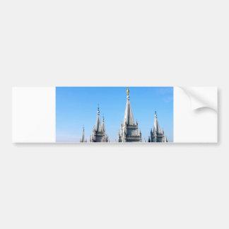 lds salt lake city temple angel moroni bumper sticker