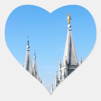 lds salt lake city temple angel moroni heart sticker