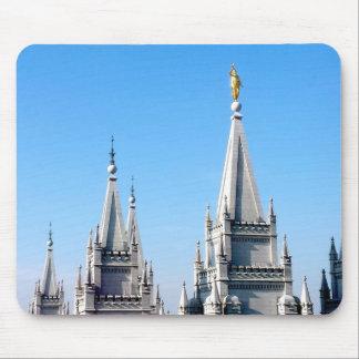 lds salt lake city temple angel moroni mouse pad