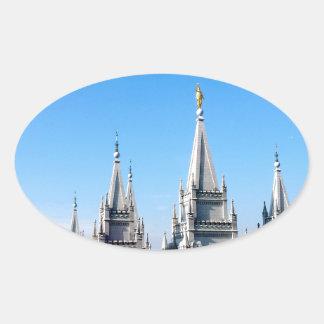 lds salt lake city temple angel moroni oval sticker