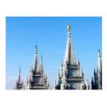 lds salt lake city temple angel moroni postcard