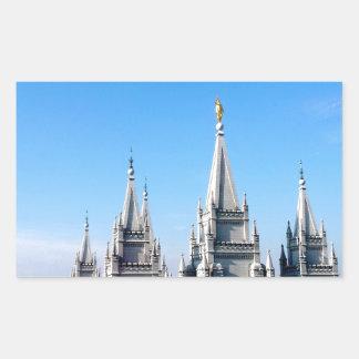 lds salt lake city temple angel moroni rectangular sticker