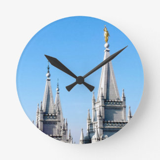 lds salt lake city temple angel moroni round clock