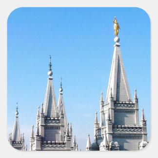 lds salt lake city temple angel moroni square sticker