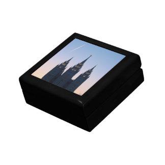 LDS Salt Lake City Temple at Sunset Jewelry Box