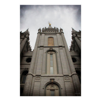 LDS Salt Lake City, UT Temple poster - large