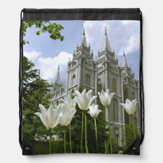 LDS SLC Utah Temple Bag Cinch Bags