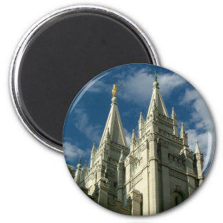 LDS Temple 2 Inch Round Magnet