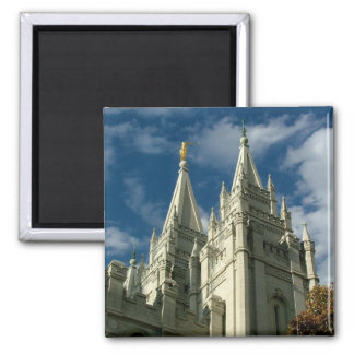 LDS Temple 2 Inch Square Magnet