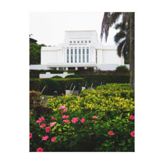 LDS Temple, Laie, Hawai'i. Canvas Print