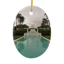 LDS Temple, Laie, Hawai'i. Ceramic Ornament
