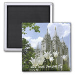 LDS Temple, Salt Lake City 2 Inch Square Magnet