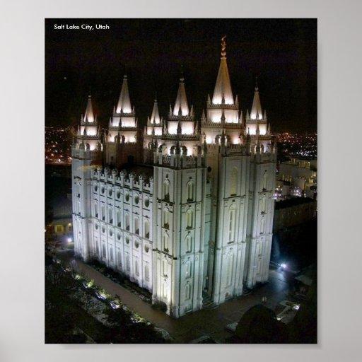 Lds Temple Salt Lake City Utah Poster Zazzle