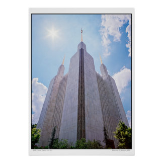 LDS Temple Under the Sun Poster