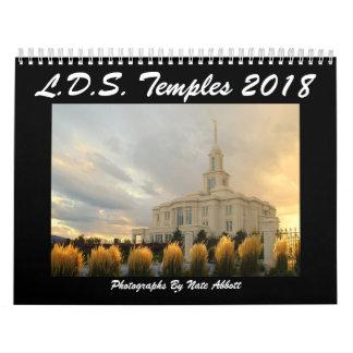 LDS Temples 2018 Calendar