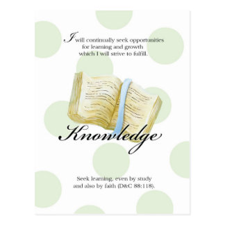 LDS YW Value Card - Knowledge