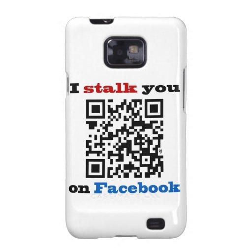 Le acecho en el código de Facebook QR Galaxy S2 Fundas