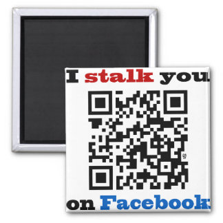 Le acecho en el código de Facebook QR Imán Cuadrado
