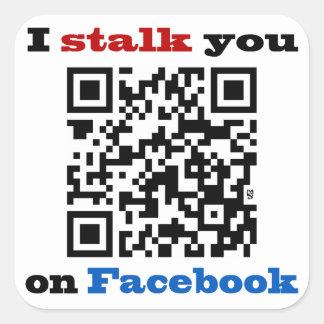 Le acecho en el código de Facebook QR Pegatina Cuadrada