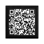 Le acecho en Facebook - QR sin texto Cajas De Recuerdo