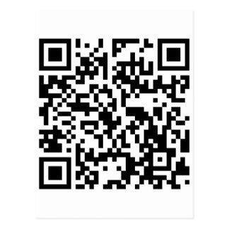Le acecho en Facebook - QR sin texto Postal