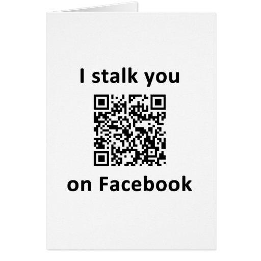 Le acecho en Facebook Tarjetón