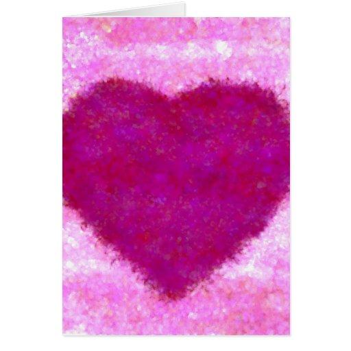 Le adoro pinté la impresión del diseño del rosa de tarjeta de felicitación