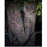Le amaba - talla del árbol esculturas fotográficas