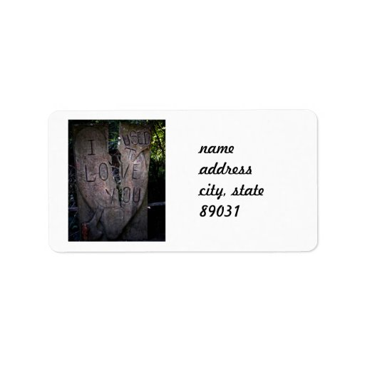 Le amaba - talla del árbol etiquetas de dirección