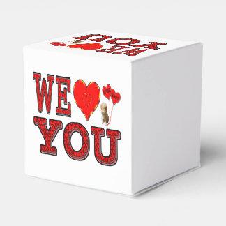 Le amamos caja de regalo con el corazón caja para regalo de boda
