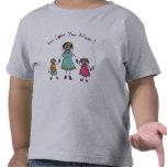 Le amamos el día de madre feliz de la familia del  camiseta