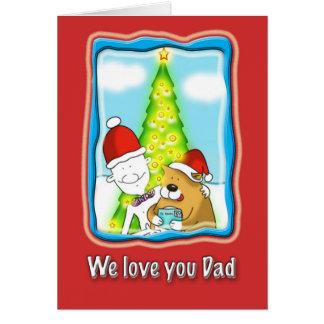 le amamos tarjeta de Navidad del papá