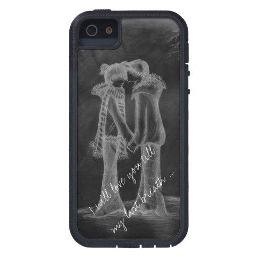 Le amaré hasta mi respiración pasada iPhone 5 Case-Mate cárcasas