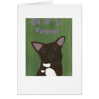 Le amaré para siempre tarjeta de felicitación