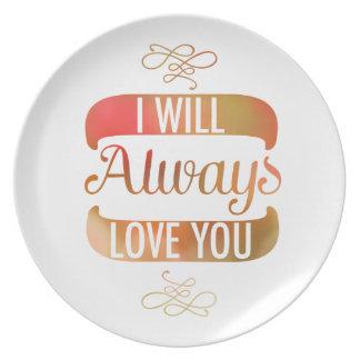 Le amaré siempre otoño plato de comida